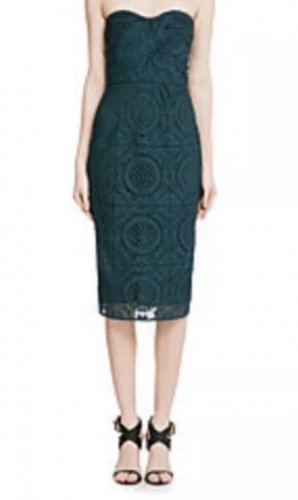 Burberry Bandeau Dress forest green
