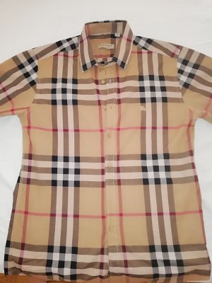 Burberry London Short Sleeved Blouse black-brown