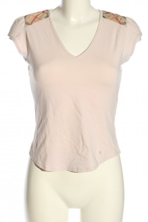 Burberry Kurzarm-Bluse creme grafisches Muster Casual-Look