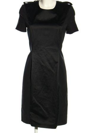 Burberry Vestido de manga corta negro elegante