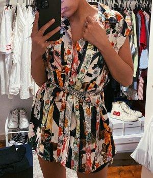 Burberry Ladies Archive Scarf Print Silk Sleeveless Shirt Bluse