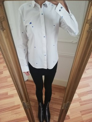 Burberry Lady Fitted Collar Cotton Shirt