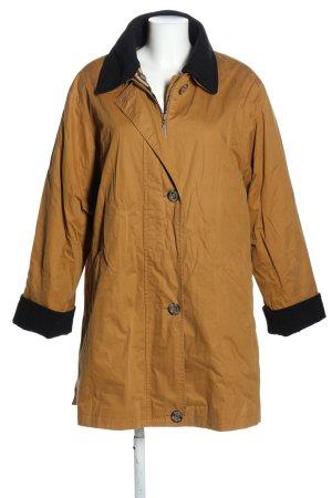 Burberry Veste longue orange clair-noir style décontracté