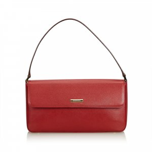 Burberry Handbag red leather