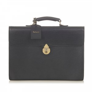 Burberry Business Bag black leather