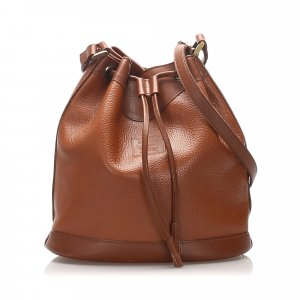Burberry Leather Bucket Bag