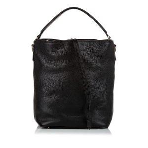 Burberry Sac porté épaule noir cuir