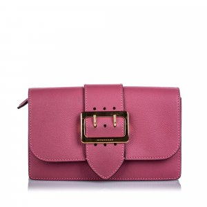 Burberry Leather Buckle Crossbody Bag