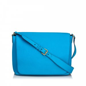 Burberry Shoulder Bag blue leather