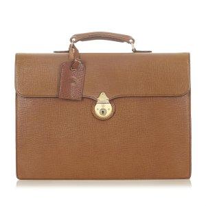 Burberry borsa ventiquattrore marrone chiaro Pelle