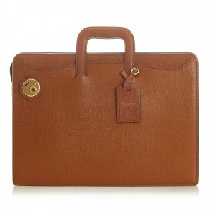 Burberry Business Bag brown leather