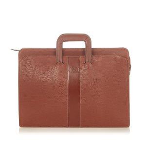 Burberry Business Bag bordeaux leather