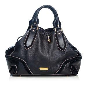 Burberry Satchel black leather