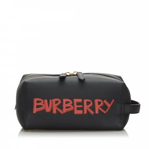 Burberry Clutch zwart Leer