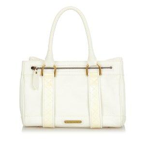 Burberry Handbag white leather