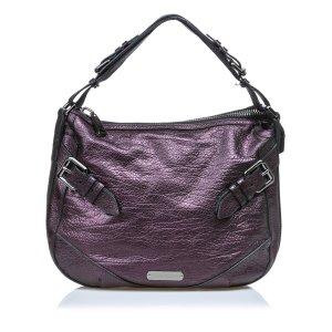 Burberry Leather Hobo Bag