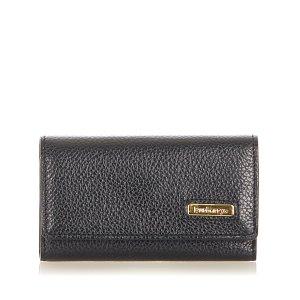 Burberry Étui porte-clés noir cuir