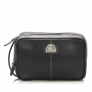 Burberry Pouch Bag black leather