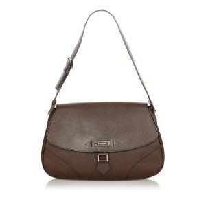 Burberry Shoulder Bag dark brown leather