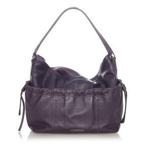 Burberry Shoulder Bag purple leather
