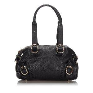 Burberry Shoulder Bag black leather