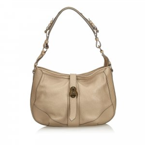 Burberry Shoulder Bag beige leather
