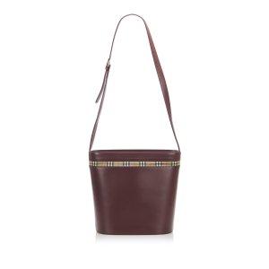Burberry Shoulder Bag red leather