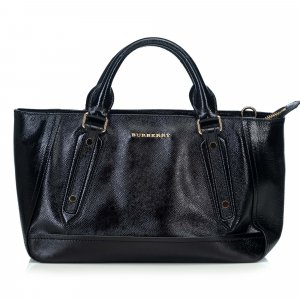 Burberry Leather Somerford Tote Bag
