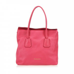 Burberry Tote red leather