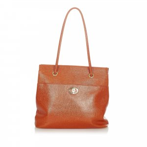 Burberry Sac fourre-tout orange cuir