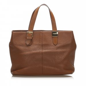 Burberry Borsa larga marrone Pelle