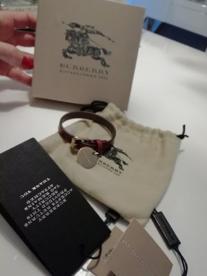 Burberry London Leather Bracelet carmine
