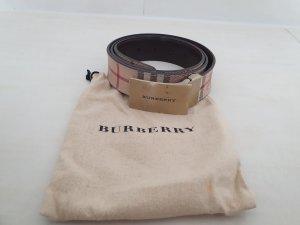 Burberry Cinturón de cuero beige Cuero