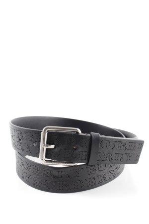 "Burberry Ledergürtel ""Perforated Logo Belt Black"" schwarz"