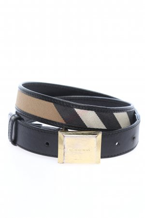 Burberry Leather Belt striped pattern casual look