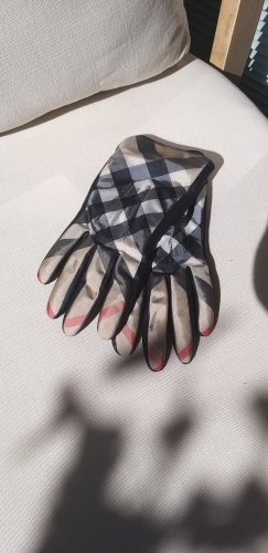 Burberry Leather Gloves multicolored leather
