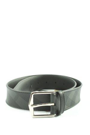 Burberry Cintura in ecopelle nero-grigio chiaro motivo a righe