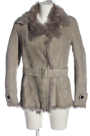 Burberry Veste en cuir gris clair style décontracté