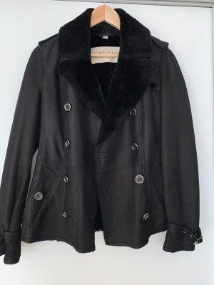 Burberry Veste en cuir noir cuir