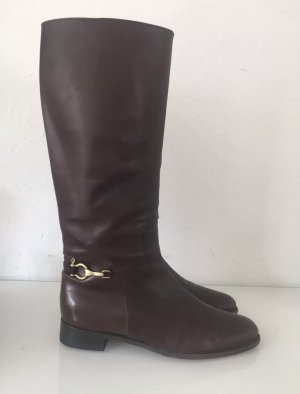 Burberry Botte d'équitation brun noir-brun foncé