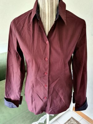 Burberry London Bluse dunkelrot 36 S