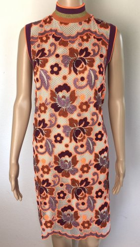 Burberry London, Edna Floral Crochet Shift Dress, Bright Orange, 42 (It. 46), neu, € 2.000,-