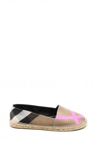 Burberry London Espadrille Sandals check pattern casual look