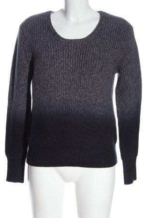 Burberry London Szydełkowany sweter czarny-jasnoszary Gradient W stylu casual