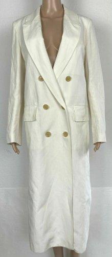 Burberry London Płaszcz przejściowy biały Len