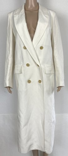 Burberry London Floor-Lenght Coat natural white linen