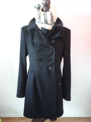 Burberry London Abrigo de lana negro Cachemir