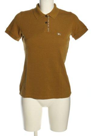Burberry London Polo-Shirt braun Schriftzug gestickt Casual-Look