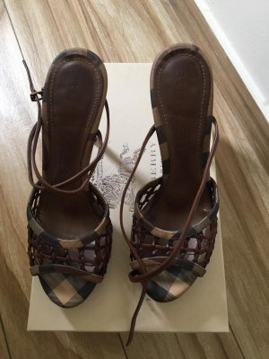 Burberry London Strapped Sandals brown-black brown
