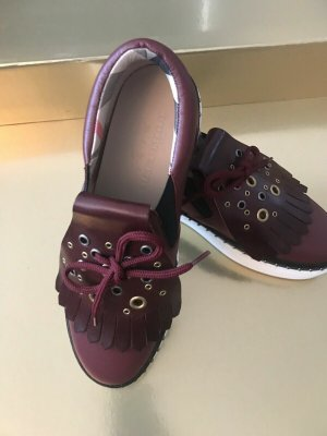 Burberry Booties bordeaux leather